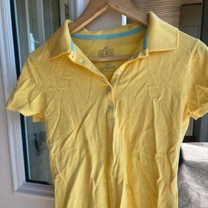 Izod cotton yellow polo t-shirt